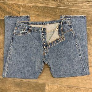Men's Levi's 501 Button Fly Jeans Size 42 x 30